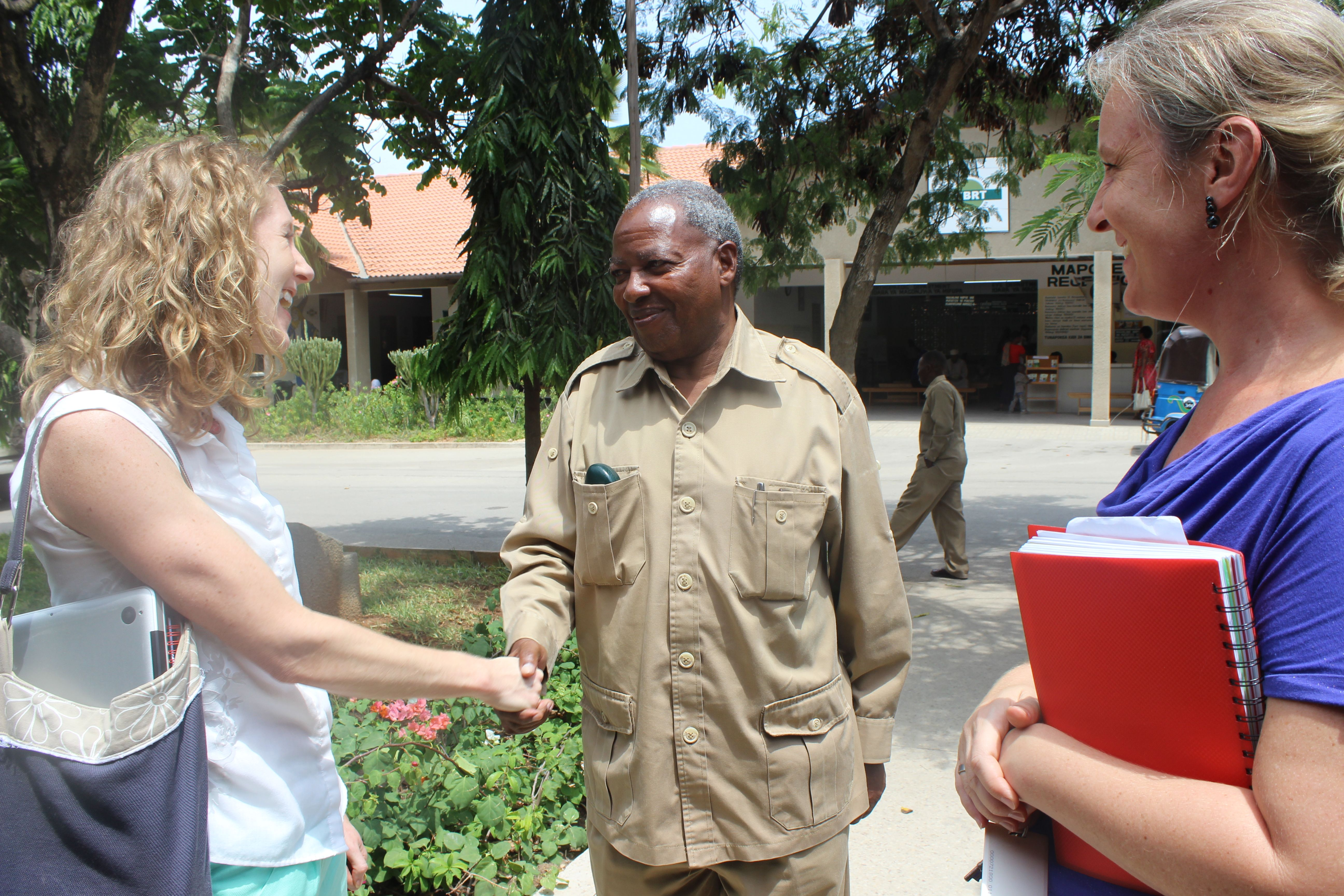 Abbey meets Dr. Willibrod Slaa, CCBRT Board President