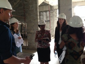 Construction site tour with our partners from Fistula Foundation