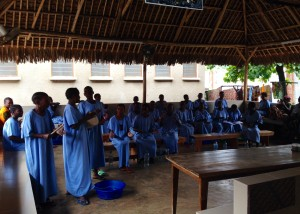 Fistula patients singing under the banda
