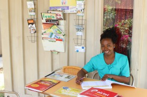 Juliana offers mobile financial services and family planning materials