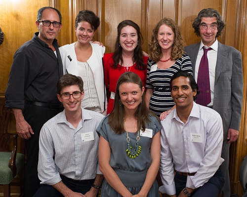 Kupona's staff, Board and Advisory Board members. From L-R: (top row) Board Chair Dr. Yoni Barnhard, Alexandra Esparza, Samantha Bossalini, Executive Director Abbey Kocan, James Mann (bottom row) Adam Chadroff, Alison Carlman, and Rohan Mehta