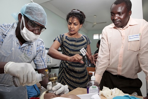 Dr. Brenda provides technical training at one of the 22 health facilities CCBRT supports