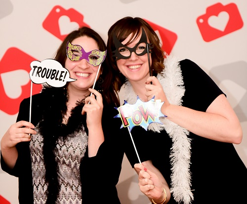 Kupona's Sami Bossalini and Alexandra Cairns in the Donate a Photo booth. Photo by Niki Rossi Photography